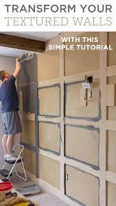 diy square panel wall molding