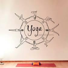 Yoga Serie Art Ontworpen Muursticker Home Woonkamer Speciale Unieke