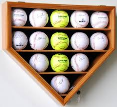 Softball Display Stand Amazon 100 Softball Display Case Cabinet Wall Rack Home Plate 2