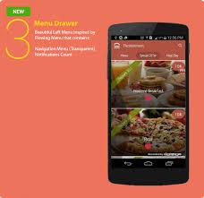 restaurant menu design app android restaurant template