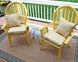 painting wicker furniture with chalk paint indoor use