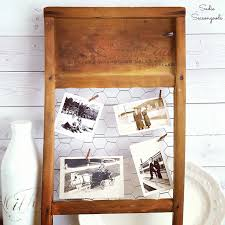 Diy Rustic Frame Repurposed Vintage Washboard As Rustic Farmhouse Photo Frame Decor