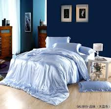 baby blue bedding sets light blue silk satin bedding sets sheets king size queen double quilt baby blue bedding sets