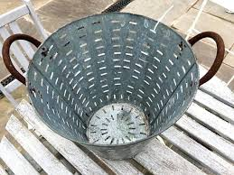 reclaimed galvanised olive bucket metal galvanized shutter wall decor with buckets