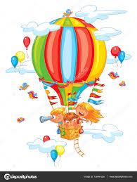 Gai Pour Un Ballon Air Chaud Image Vectorielle 136467226