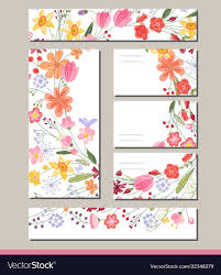 Flowers Templates Summer Templates With Contour Flowers Template