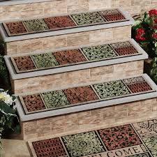 image of outdoor stair treads with mat