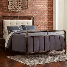 wrought iron bed frame queen. Modren Bed Soho Upholstered Iron Bed In Brown  Copper To Wrought Frame Queen A
