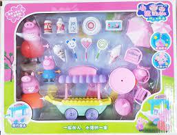 Hộp quà tặng đồ chơi xe kem heo peppa pig cho bé gái