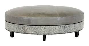 wexford leather oval cocktail ottoman