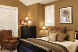 Modern Bedroom Color Schemes With Charming Black Master Bed And