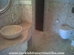 travertine bathroom wall floor tiles mosaics and sink