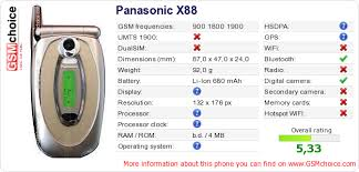 Panasonic X88 :: GSMchoice.com