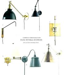 wall sconces that plug into chandelier
