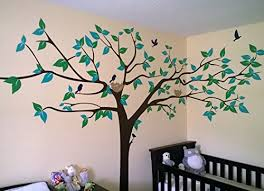 popdecors super big tree wall decal 133inch w beautiful tree wall decals for kids rooms teen girls boys wallpaper murals sticker wall stickers nursery