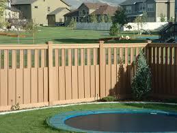 image of brick wood fence ideas