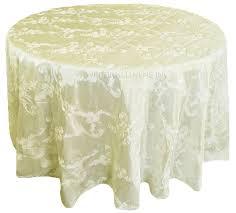 120 round ribbon taffeta tablecloth ivory 65902 1pc pk