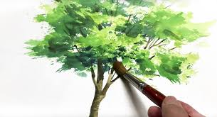 Quick Easy Watercolor Techniques Making A Watercolor Tree Painting