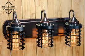 industrial bathroom vanity lighting. Delighful Industrial Industrial Bathroom Vanity Cage Light Fixture Bar To Lighting T