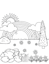 rainbow coloring pages.  Pages Rainbow Coloring Pages For Kids Printable In R