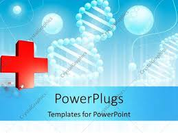 science background for powerpoint powerpoint template science background with dna theme and red cross