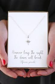 silver star necklace however long the night the dawn will break bereavement gift jewelry sympathy gift
