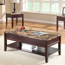 marble living room table. Homelegance Orton Medium-dark Brown Faux Marble Coffee Table Living Room V