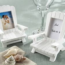white adirondack chair mini place card picture frame favor