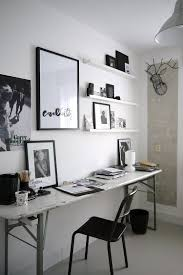 home office white. Industrial Home Office Features A Sleek Desk With Weathered Look [Design: Desiree Vosgesparis] White H