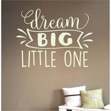 dream big little one removable wall art vinyl graphic decal home decor vinyl mural  on dream big little one wall art with dream big little one removable wall art vinyl graphic decal home