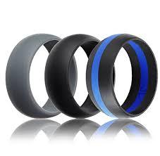 Amazon Com Mens Silicone Wedding Ring Wedding Band 3