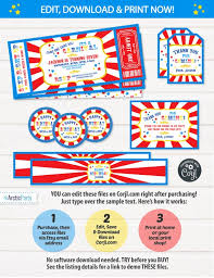 Carnival Birthday Invitations Carnival Birthday Invitations Carnival Invitations Carnival Theme Party Carnival Party Supplies Instant Download Edit Now