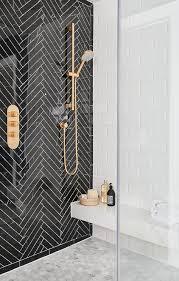 modern shower tile. Simple Tile Glossy Black Herringbone Shower Tiles On Modern Tile T