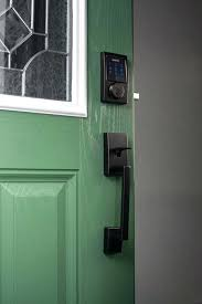 schlage entry door handles. schlage front door handlesets century touchscreen deadbolt in aged bronze modern windows and doors locks entry handles