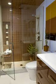 Prepossessing Bathroom Design Ideas Introducing Brown Subway Tiles ...