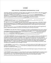 Printable Rental Agreement Template 9 Blank Lease Agreement Templates Free Sample Example