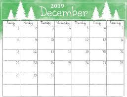 December Calendar Blank Printable December 2019 Christmas Calendar Calendar 2018