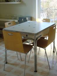 Retro Stainless Steel Kitchen Table Home Design Decorating Ideas