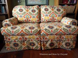slipcover on loveseat pattern matched