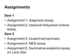 flm introduction to film anat pick ppt assignments sem 1 assignment 1 diagnostic essay