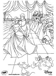 disney coloring pages princess disney princess cinderella at the ball