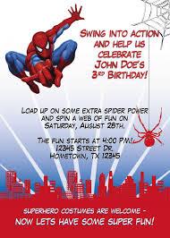 Spiderman Birthday Invitation Templates Free Spiderman Birthday Invitation Template Free Party Invitation