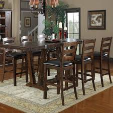 dining bar table set. dining tables, charming brown rectangle rustic wooden bar height table set stained design: