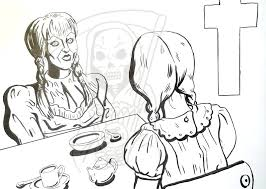 Annabelle Horror Adult Coloring Page Evil Doll