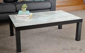 Ikea Lack coffee table hack | faux wood Ikea Lack hack | Farmhouse Ikea Lack  table