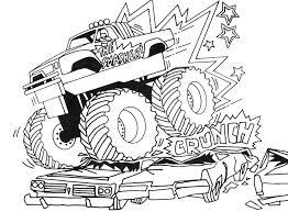 Truck Coloring Pages Monster Truck Destruction 1 Pinterest