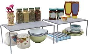 Kitchen Shelf Organizer Amazoncom Decobros Expandable Stackable Kitchen Cabinet And