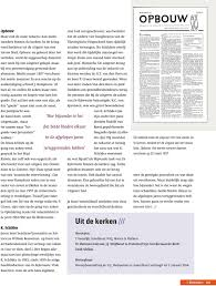 Reformatie Afscheid Van Het Blad Van Klaas Schilder De Reformatie