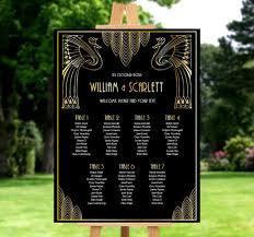 Wedding Seating Chart Gatsby Wedding Decor Art Deco