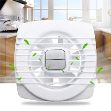 pull rope white mini fan extraction ventilation wall kitchen bathroom toilet fan hole
